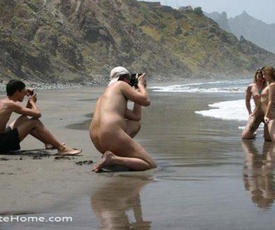 Lesbienne sur la plage